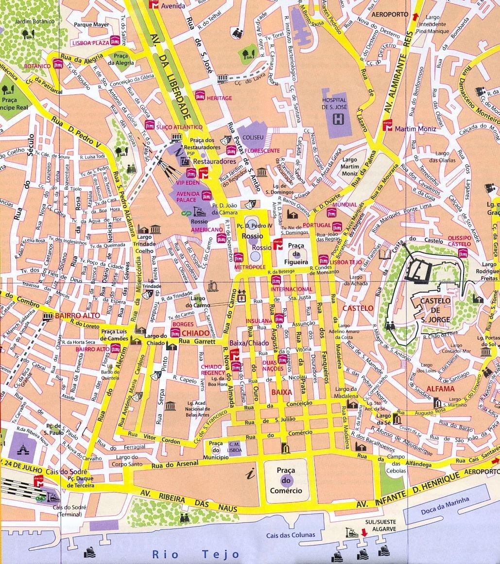 Cartina Turistica Portogallo
